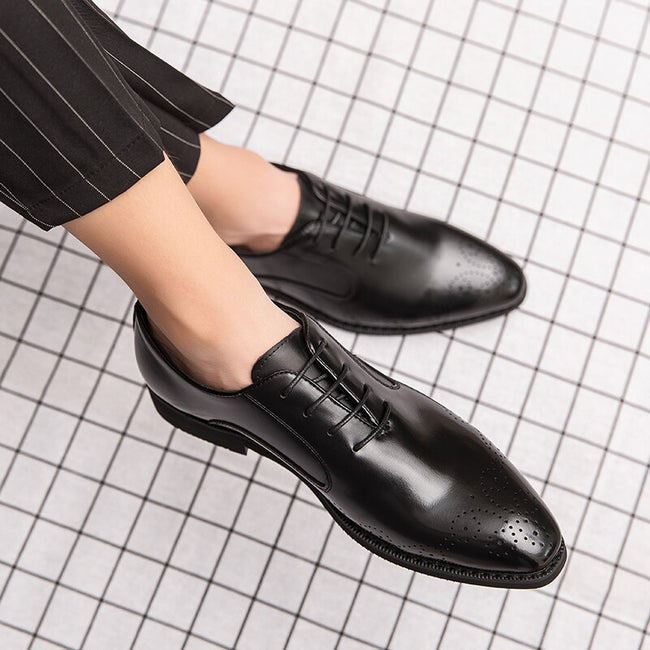 Luxury Men Bullock Business Leather Shoes