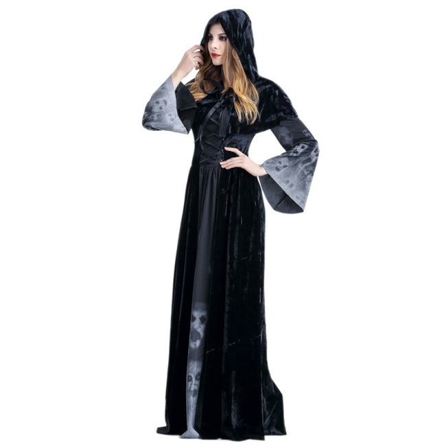 Halloween Victorian Dress Cosplay Ghost Fancy Maxi Dress