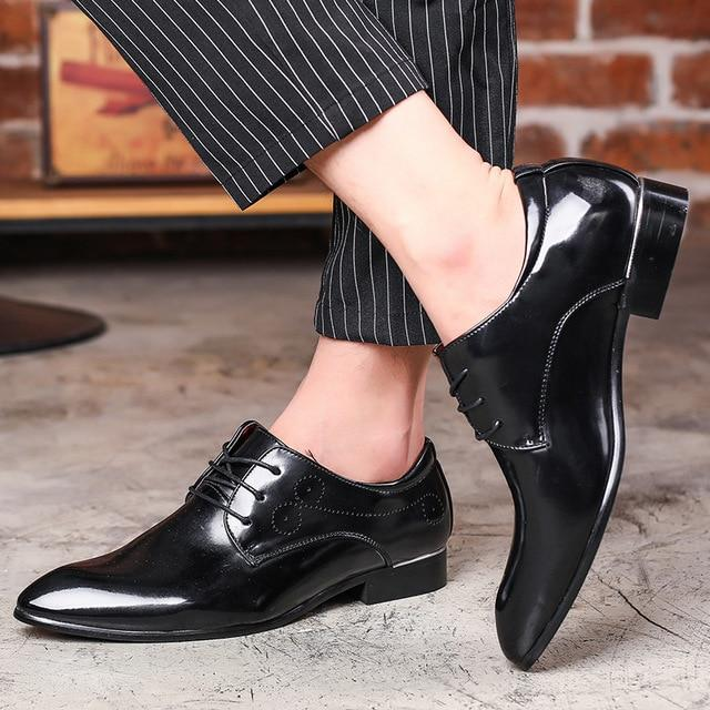 Casual Shoes - Plus Size Leather Business Dress Oxford Shoes