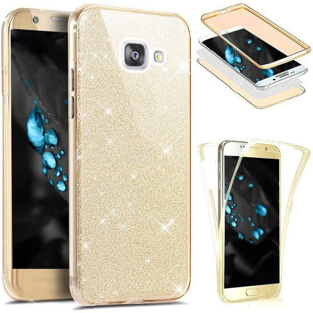 360 Full Protection Glitter Silicone Case for Coque Samsung GalaxyS8 S9 Note 9 8 S10