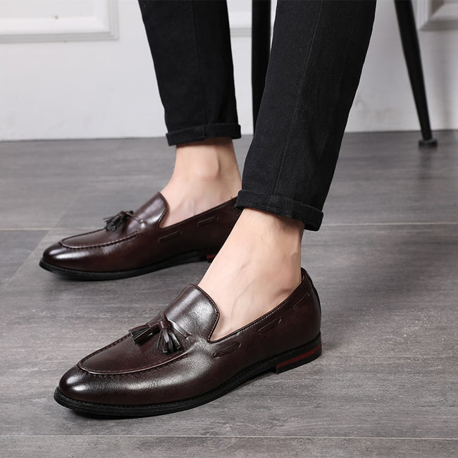 Handmade Tassel   Leather Business Men's Loafers