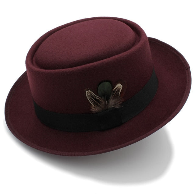 Women Men Autumn Hat Winter Retro Fedora Hat