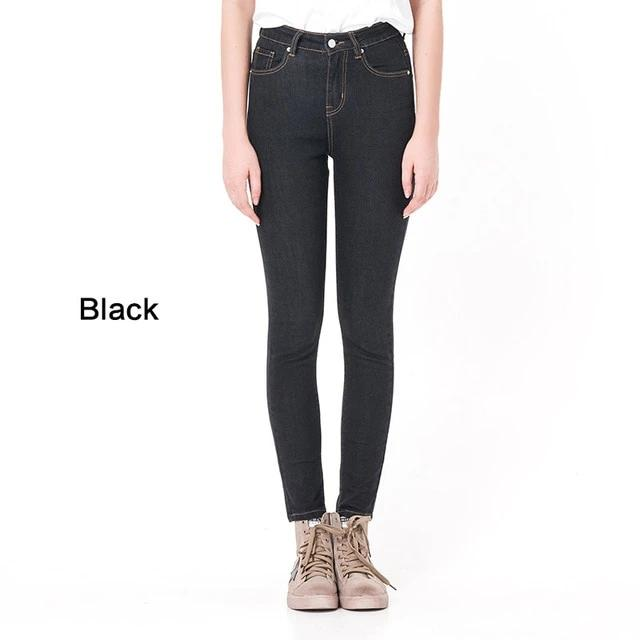 Woman High Elastic plus size  washed denim skinny pencil pants