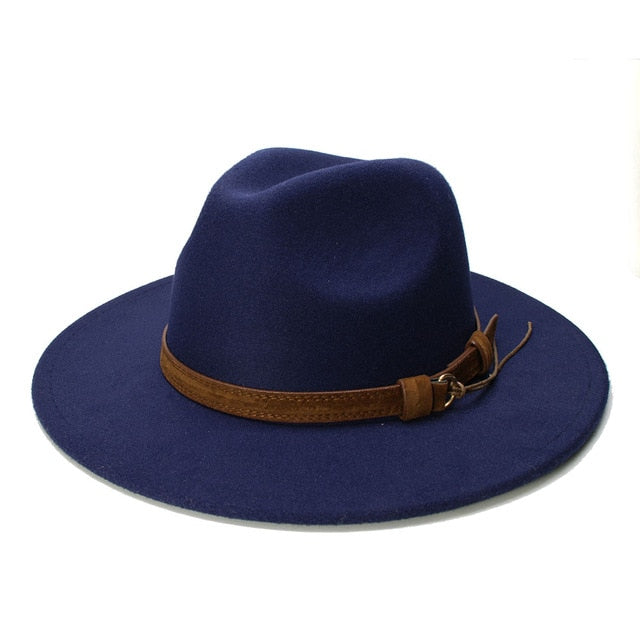 Retro Kid Child Vintage Wool Wide Brim Cap Fedora Panama Jazz Bowler Hat
