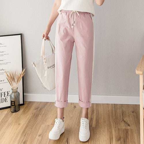 Cotton Linen Ankle Length Pants