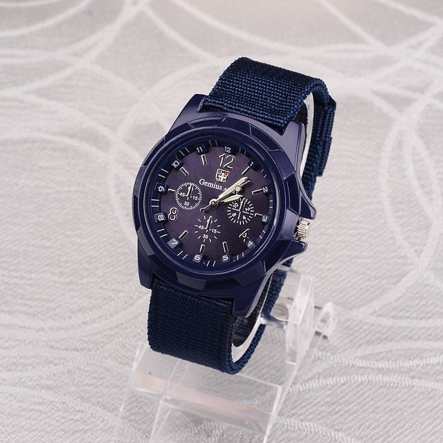 Men Nylon band Military Watch