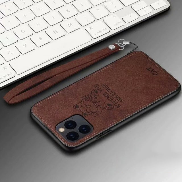 Luxury Deer Cat Protective Back Cover Case for iphone 11 Pro Max