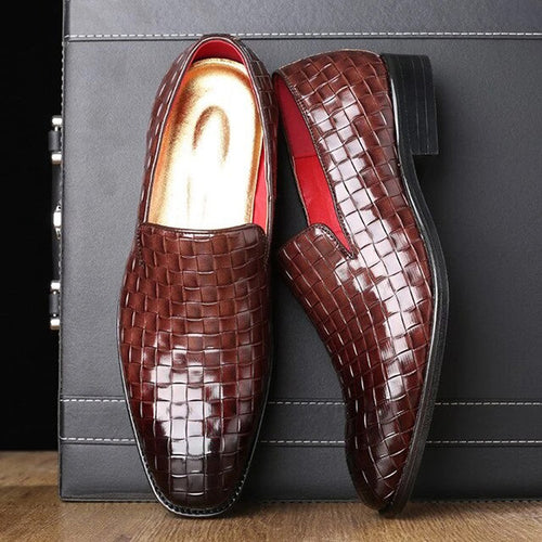 Classic Weave Gradient Business Dress Shoes