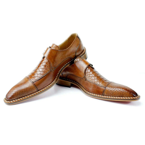 Crocodile Leather Luxury Single Monk Dress Shoes