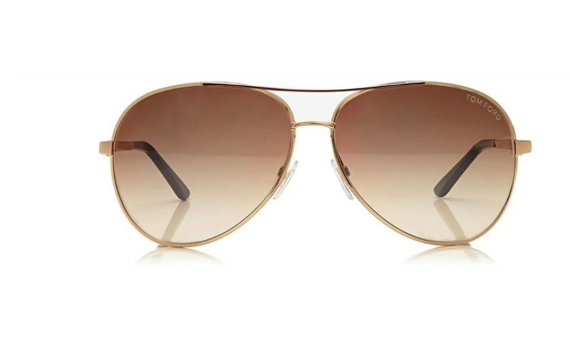 Tom Ford Round Aviator Sunglasses