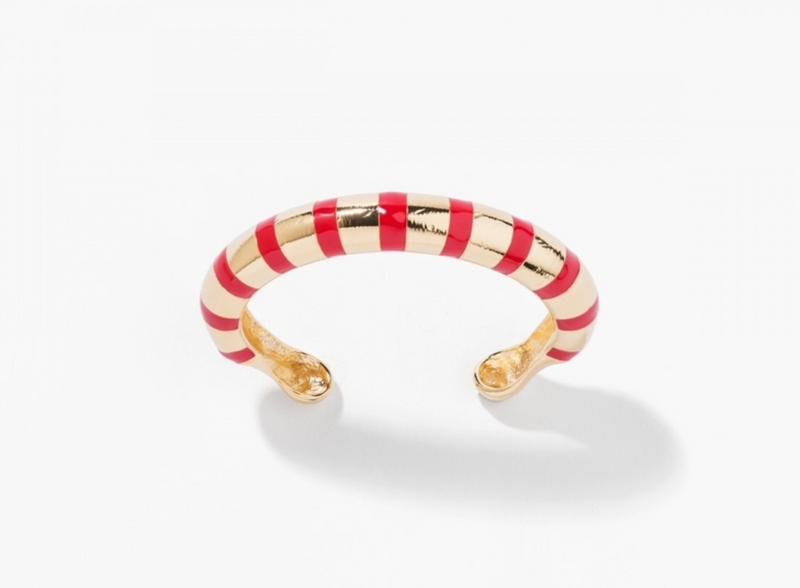 Maria Red Striped Bracelet