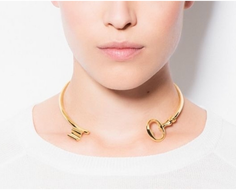 Gold Collar Rivoli Necklace
