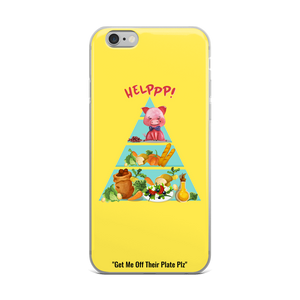 Rescue Me Yellow iPhone Case - 4 LONELY PIGGIES