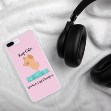 Load image into Gallery viewer, Keep Calm and Be A Yoga Champion iPhone Case - 4 LONELY PIGGIES