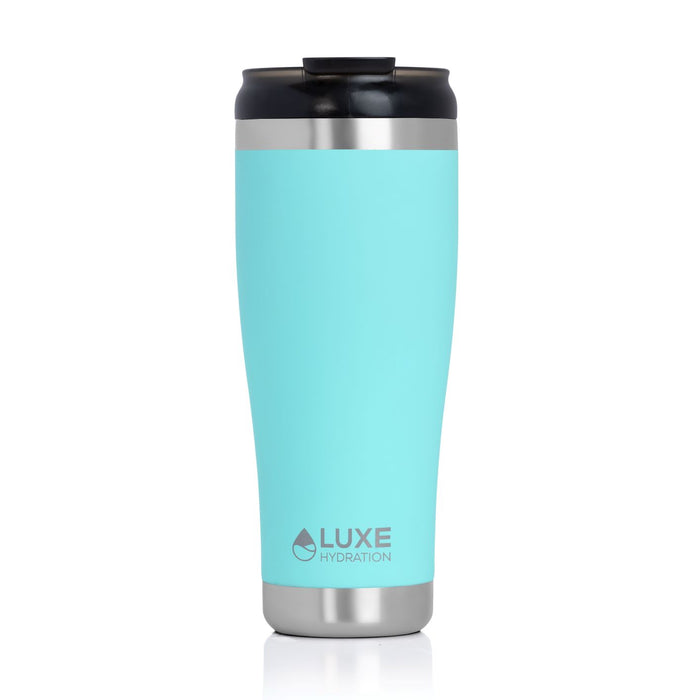 **NEW** 20oz Triple Insulated Stainless Steel Tumbler with Screw-On Lid - Beach Glass