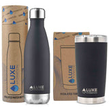 17oz Water Bottle & 20oz Tumbler Set - Caviar