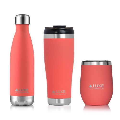 Coral Collection (17oz Water Bottle | NEW 20oz Tumbler | 12oz Travel Wine Glass)
