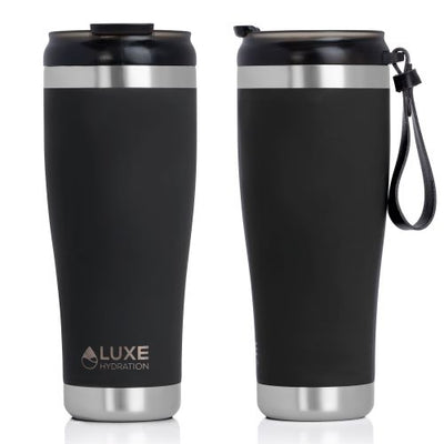 **NEW** 20oz Triple Insulated Stainless Steel Tumbler with Screw-On Lid - Caviar