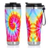 **NEW** 20oz Triple Insulated Stainless Steel Tumbler with Screw-On Lid - Tie Dye