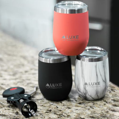 12oz Insulated Stainless Steel Wine Tumbler - Set of 4