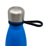 Close up of silicone Comfort Loop Handle attached to a 17oz water bottle