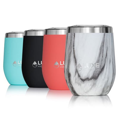 12oz Insulated Stainless Steel Wine Tumbler - Marble Swirl