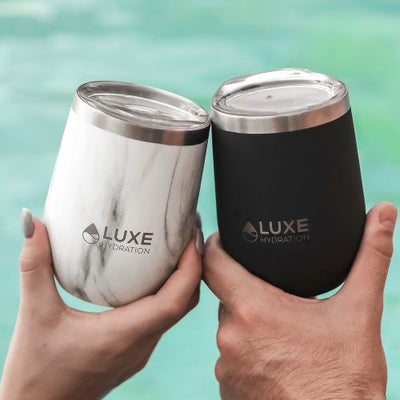 12oz Insulated Stainless Steel Wine Tumbler - Caviar