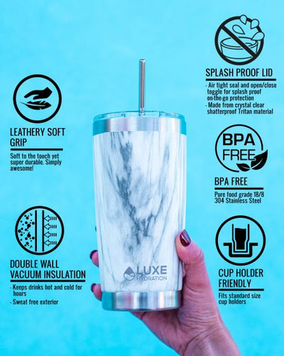 20oz Insulated Stainless Steel Tumbler - Gulf Blue