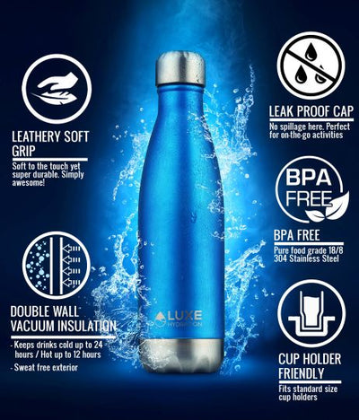 17oz Insulated Stainless Steel Water Bottle - Star White