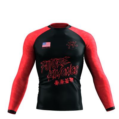 UNDER DAWG - RED LONG SLEEVE RASH GUARD
