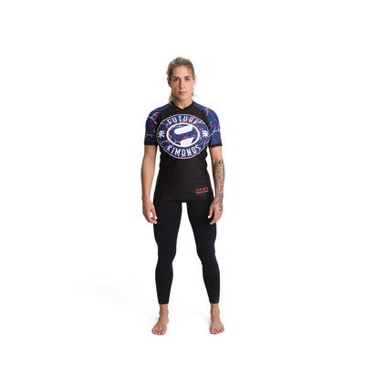 Future Kimonos Blood Blossom Short Sleeve Jiu Jitsu Rash Guard