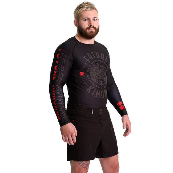 FUTURE HYBRID - Black Long Sleeve Rash Guard