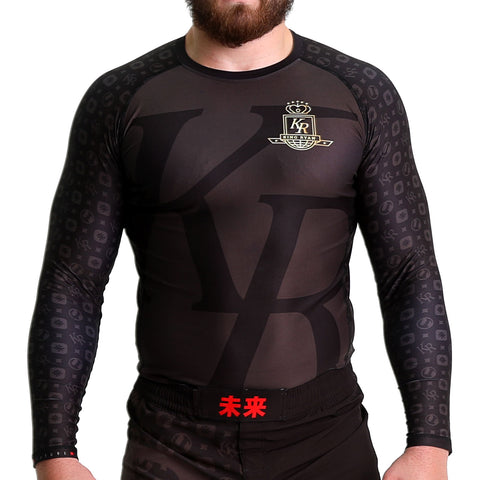 KING RYAN - Black Long Sleeve Rash Guard