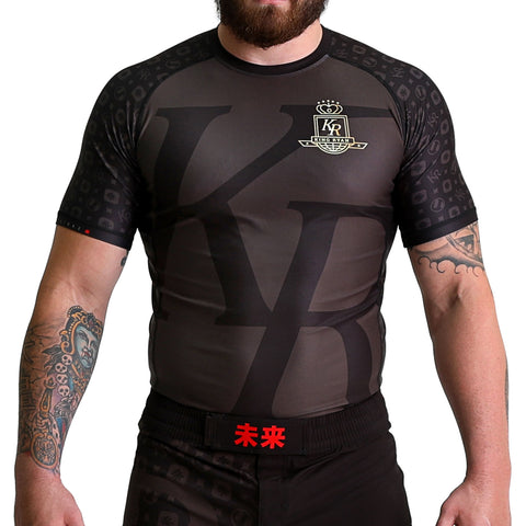 KING RYAN - Black Short Sleeve Rash Guard