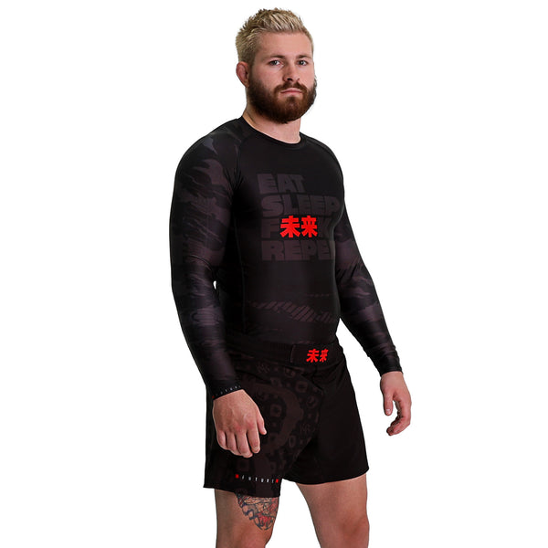 KING RYAN - Eat Sleep F未来K Repeat Long Sleeve Rash Guard