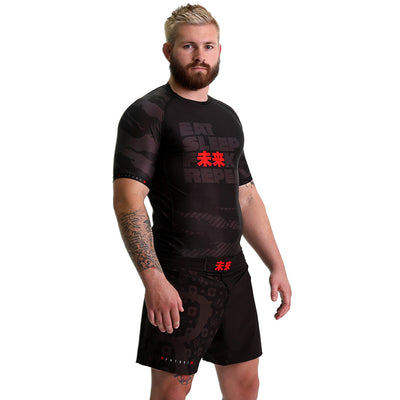 KING RYAN - Eat Sleep F未来K Repeat Short Sleeve Rash Guard