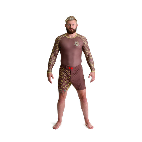 KING RYAN - Brown Fight Shorts