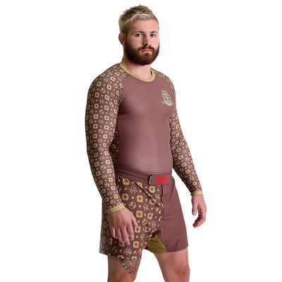 KING RYAN - Brown Long Sleeve Rash Guard