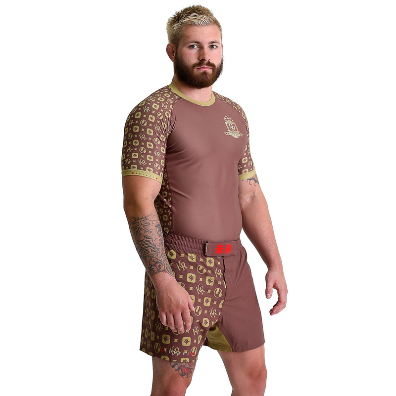 KING RYAN - Brown Short Sleeve Rash Guard