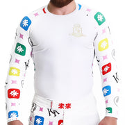 KING RYAN - White Long Sleeve Rash Guard