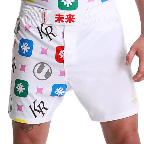 KING RYAN - White Fight Shorts