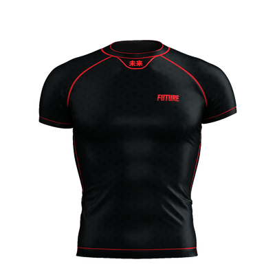 Horizon - Black Short Sleeve Rash Guard