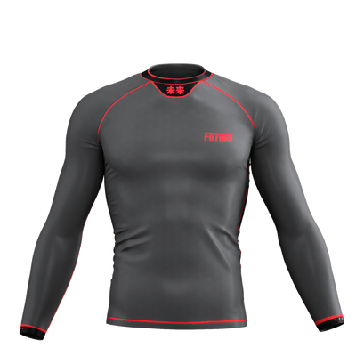Horizon - Grey Long Sleeve Rash Guard