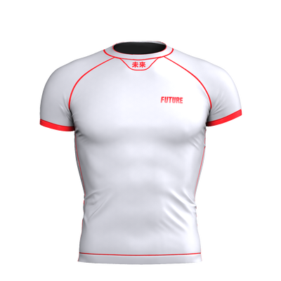 Horizon - White Short Sleeve Rash Guard