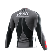 Gordon King Ryan 2020 - Long Sleeve Rash Guard Grey