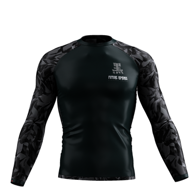ELEMENTS SERIES - OBSIDIAN LONG SLEEVE RASH GUARD