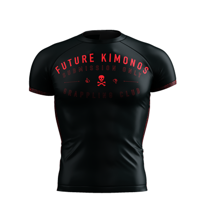 Sub Club - Black/Red Short Sleeve Rash Guard
