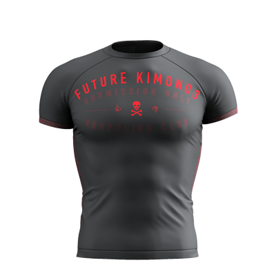 Sub Club - Grey Short Sleeve Rash Guard