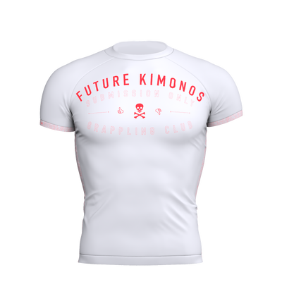 Sub Club - White Short Sleeve Rash Guard