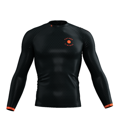 Immortal Samurai - Black Long Sleeve Rash Guard